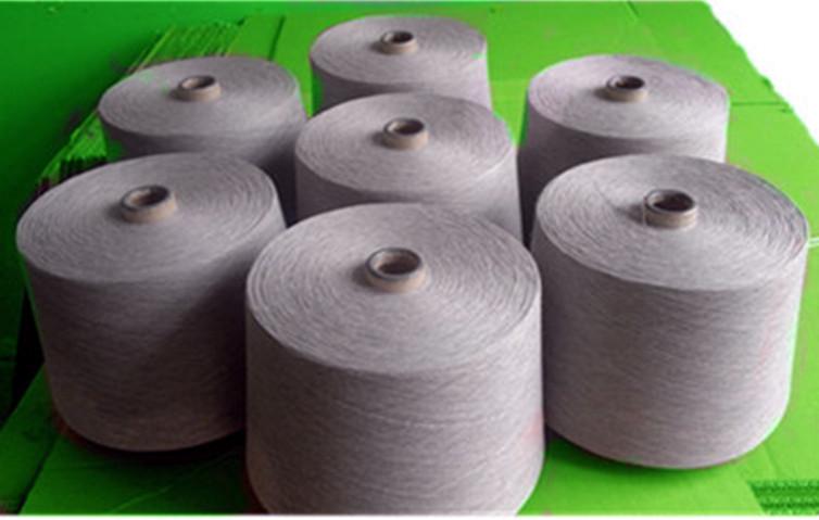 竹纤维、棉色纺麻灰纱线